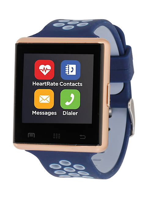 iTouch Navy And Rose Perforated Strap Smartwatch
