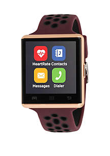 iTouch Merlot and Rose Perforated Strap Smartwatch