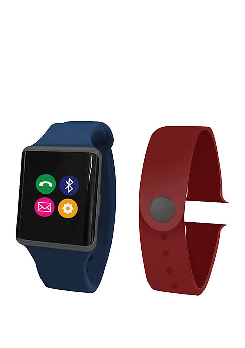 iTouch Air Smart Watch Set Navy/Burgundy Rubber Bands