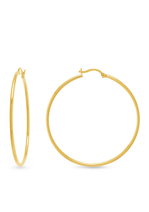 Fine Gold-Plated Hoop Earrings