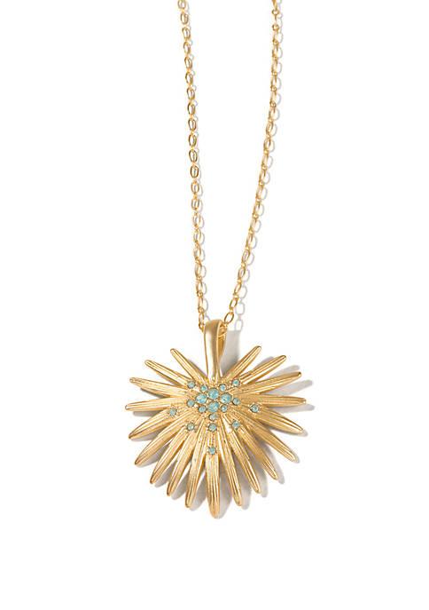 Palmetto Frond Necklace 30 in Sea Green