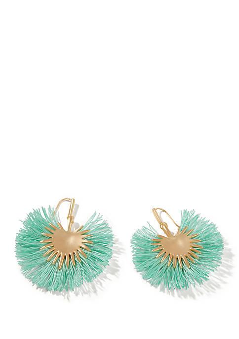 Palmetto Frond Fan Earrings