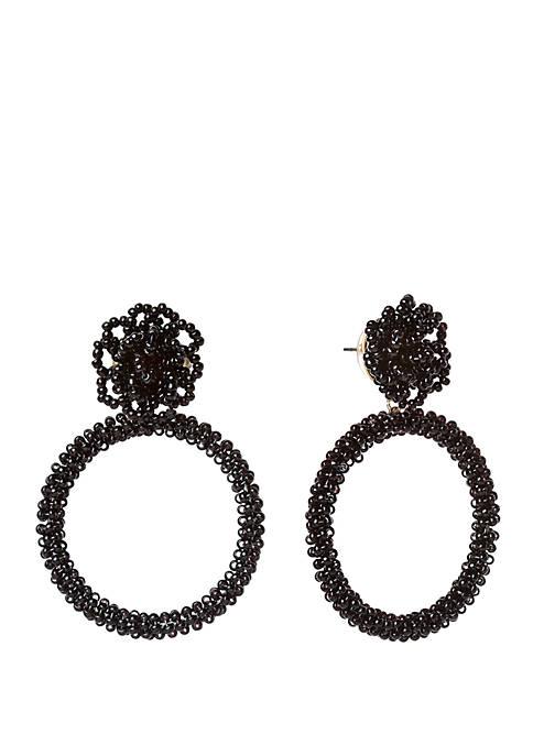 Beaded Pouf Statement Earrings