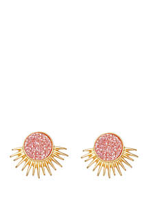 spartina 449 Deco Spike  Blush Druzy Stud Earrings