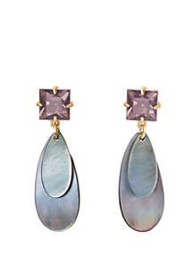 Shell Point Drop Earrings