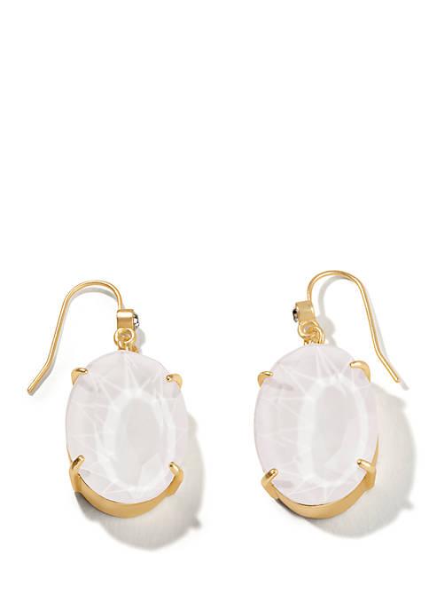 Sky Blue Oval Earrings
