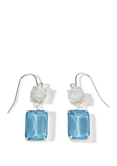 Sky Blue Rectangle Earrings