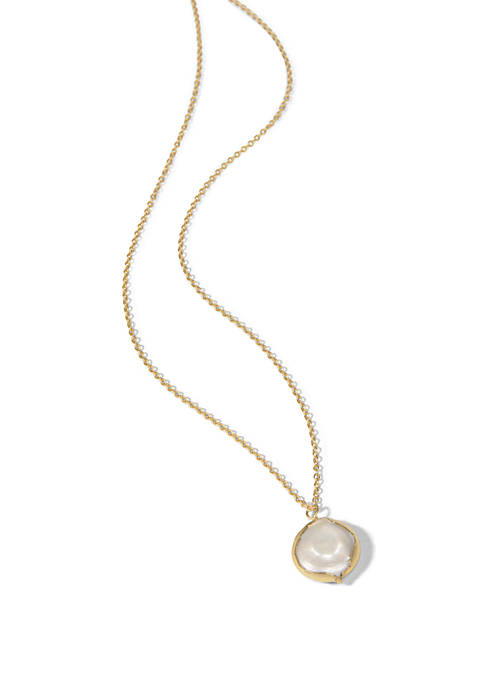 spartina 449 Coin Pearl Petite Necklace