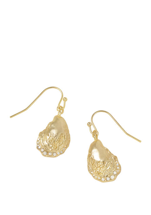 spartina 449 Lab Created Oyster Drop Earrings