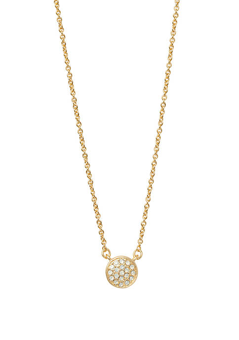 spartina 449 Stronger Pave Disk Necklace