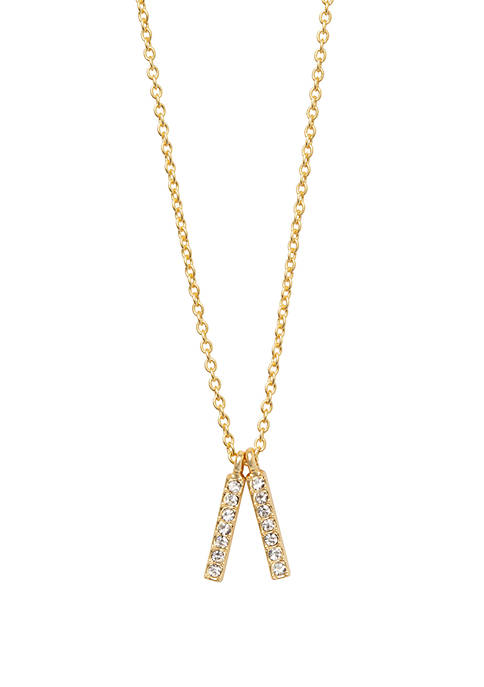 Lean On Me Double Bars Necklace