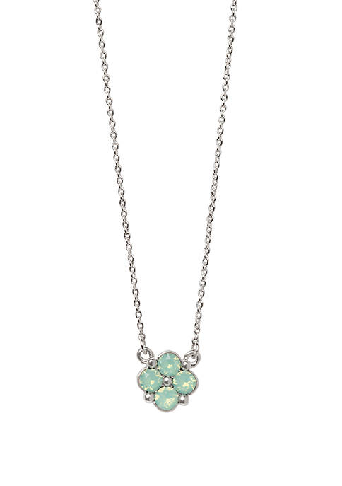 spartina 449 Blessed Sea Foam Clover Necklace