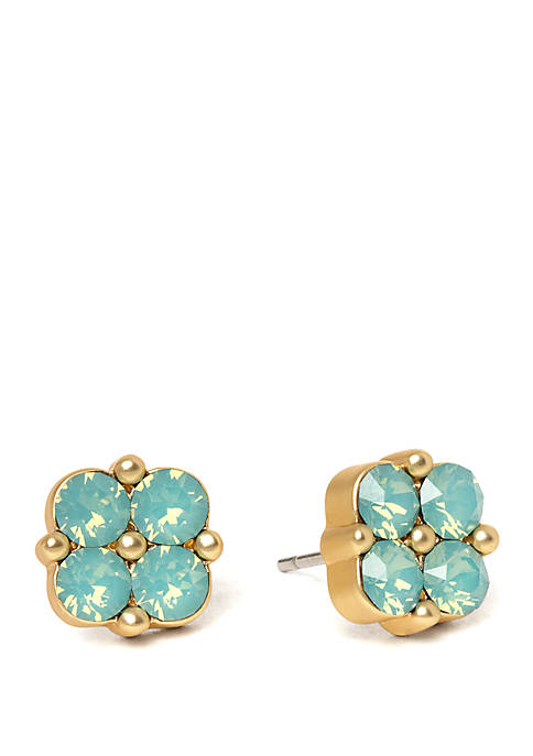 spartina 449 Blessed Sea Foam Clover Stud Earrings