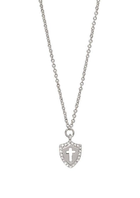 Faith Over FearCross Shield Necklace