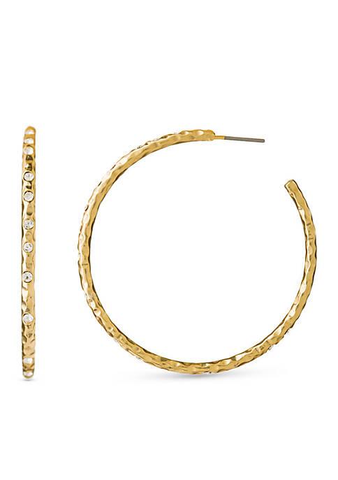 18k Gold-Plated Fizz C Hoop Earrings