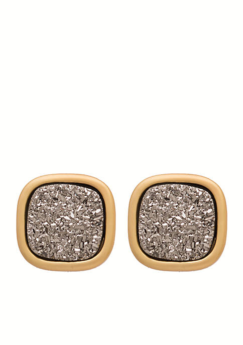 Gold-Tone Sea La Vie Stud Earrings