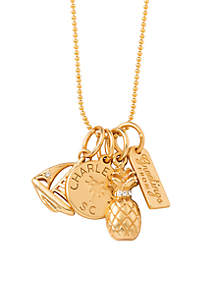 Gold-Tone Charleston Charm Necklace