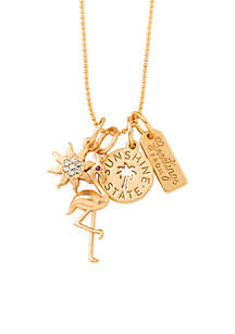 Gold-Tone Florida Charm Necklace