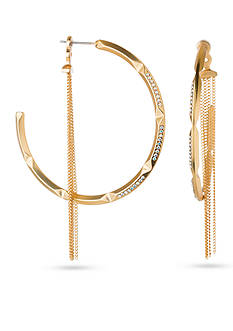 spartina 449 18K Gold-Plated On Edge Hoop Ear Jacket Earrings