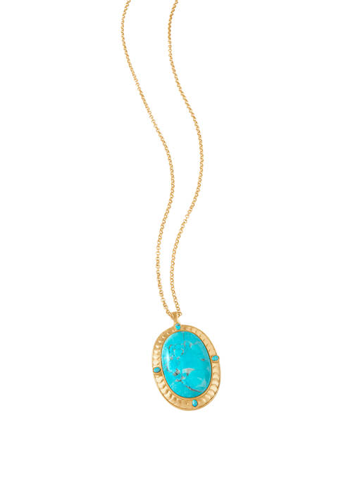 Naia Oval Turquoise Necklace