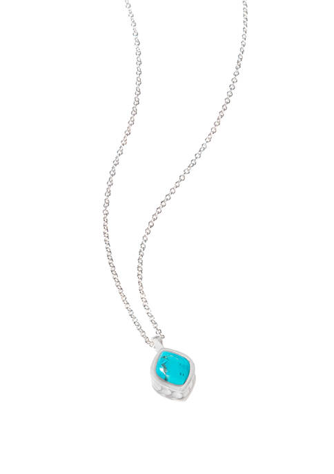 Naia Turquoise Silver Necklace