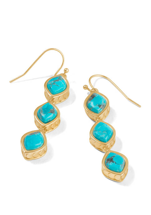 spartina 449 Naia Linear Drop Turquoise Earrings