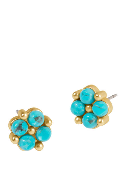 spartina 449 Clover Stud Turquoise Earrings