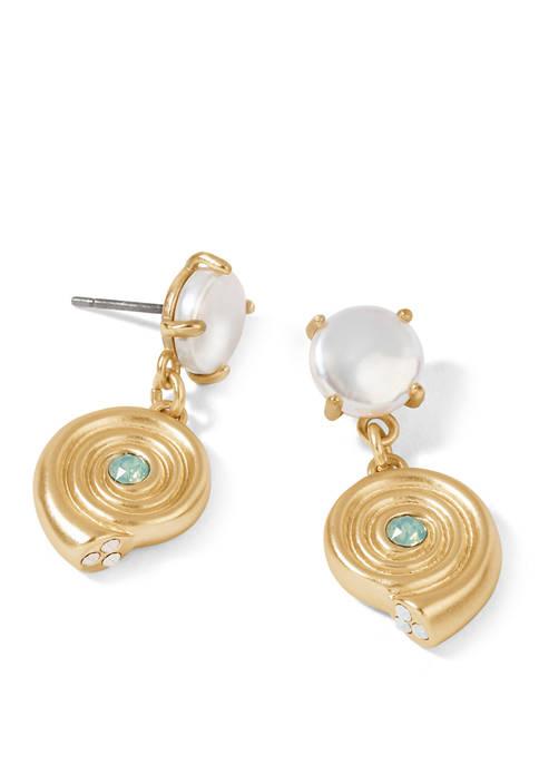 spartina 449 Moon Shell Pearl Earrings