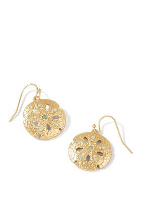 Spartina 449 Women Sand Dollar Opal Earrings