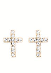 Gold-Plated Faith Stud Earrings