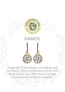 Gold-Tone Sea La Vie Crystal Drop Earrings