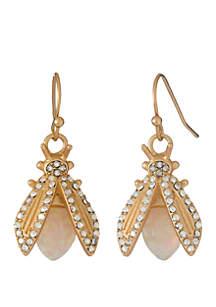 18k Gold Plated Firefly Earrings