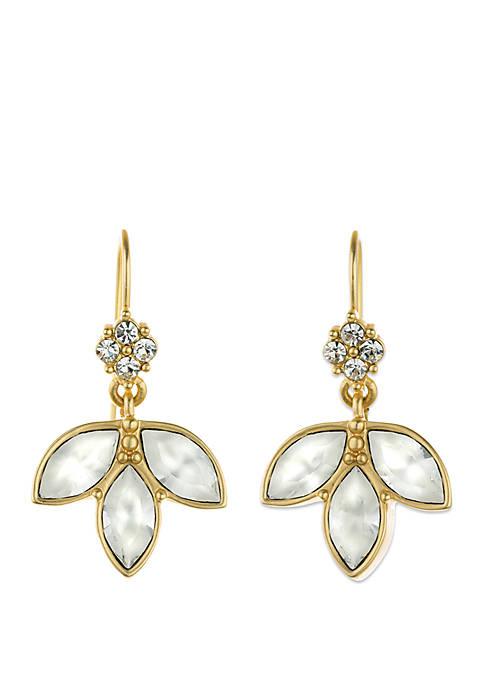 18k Gold Plated Leaf Earrings