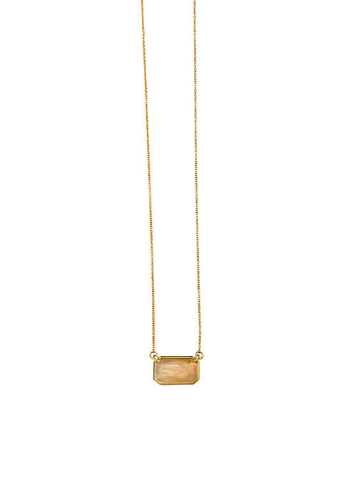 Gold-Tone Sea La Vie Moonstone Necklace