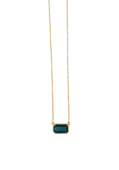 spartina 449 Gold-Tone Sea La Vie Gem Necklace