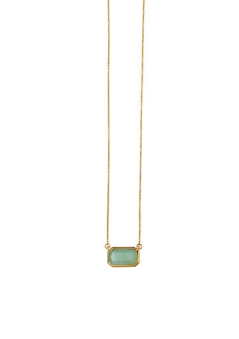spartina 449 Gold-Tone Sea La Vie Stone pendant