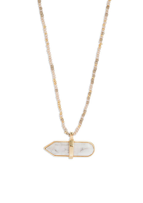 spartina 449 18Kt Matte Gold-Plated Marble Bitty Necklace