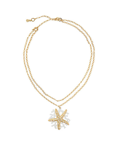 spartina 449 Gold-Plated Sea Star Statement Necklace