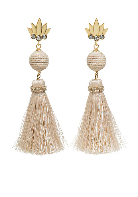 spartina 449 18K Matte Gold Plated Pineapple Tassel