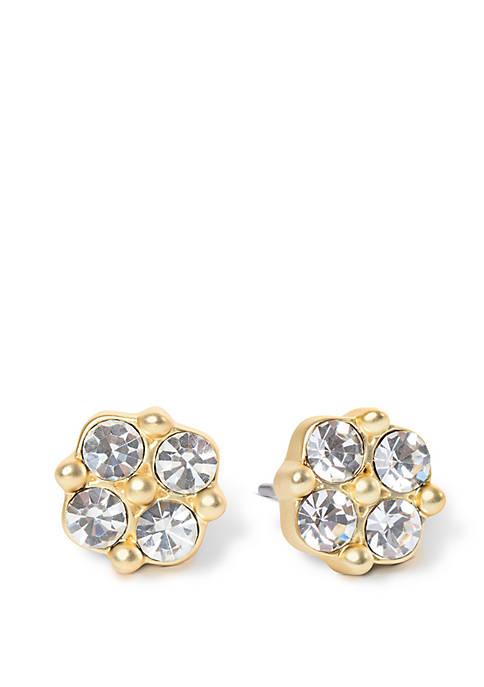 Sea La Vie Stud Crystal Clover Earrings