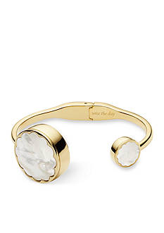 kate spade new york® Connected Women's Gold-tone and White Bangle Tracker