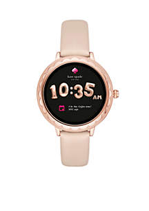 Women's Rose Gold-Tone Scallop Touchscreen Smartwatch