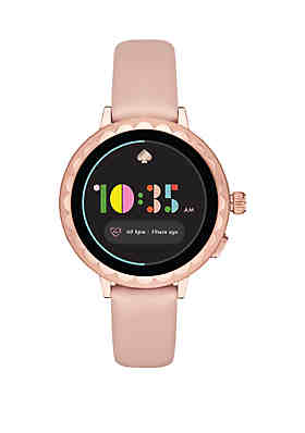 f2d8ae9b019 kate spade new york® Scallop Smartwatch 2 Pale Vellum Leather ...