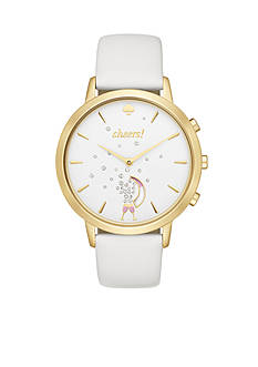 kate spade new york® Connected Women's Hybrid Gold-Tone and White Metro Smartwatch