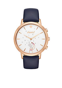 Connected Women's Hybrid Rose Gold-Tone and Navy Smartwatch