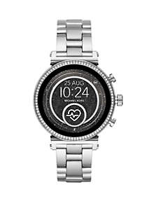 Michael Kors Rose Gold Tone Stainless Steel Access Sofie Heart Rate Touchscreen Smartwatch