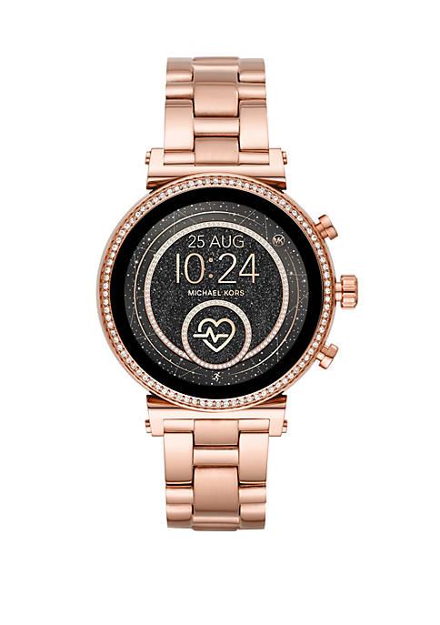 Michael Kors Rose Gold Tone Stainless Steel Access