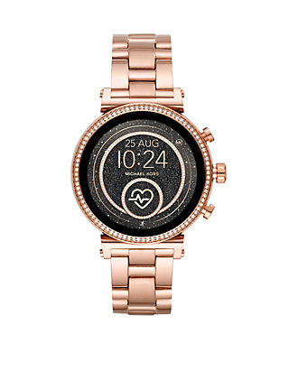 Rose Gold Tone Stainless Steel Access Sofie Heart Rate Touchscreen Smartwatch