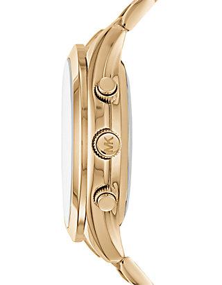 0ceff9313 ... Michael Kors Womens Slim Runway Gold-Tone Hybrid Smartwatch ...