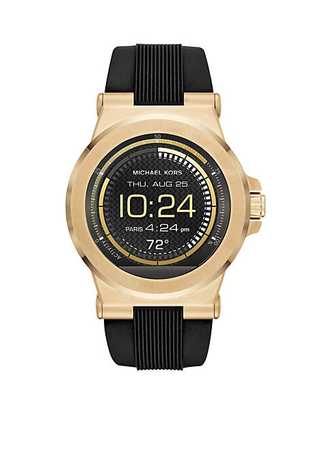 Mens Gold-Tone Display SmartWatch